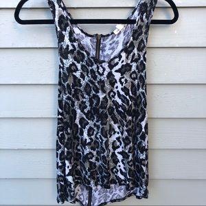 Cheetah print tank top with back zipper